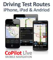 iphone driving test routes
